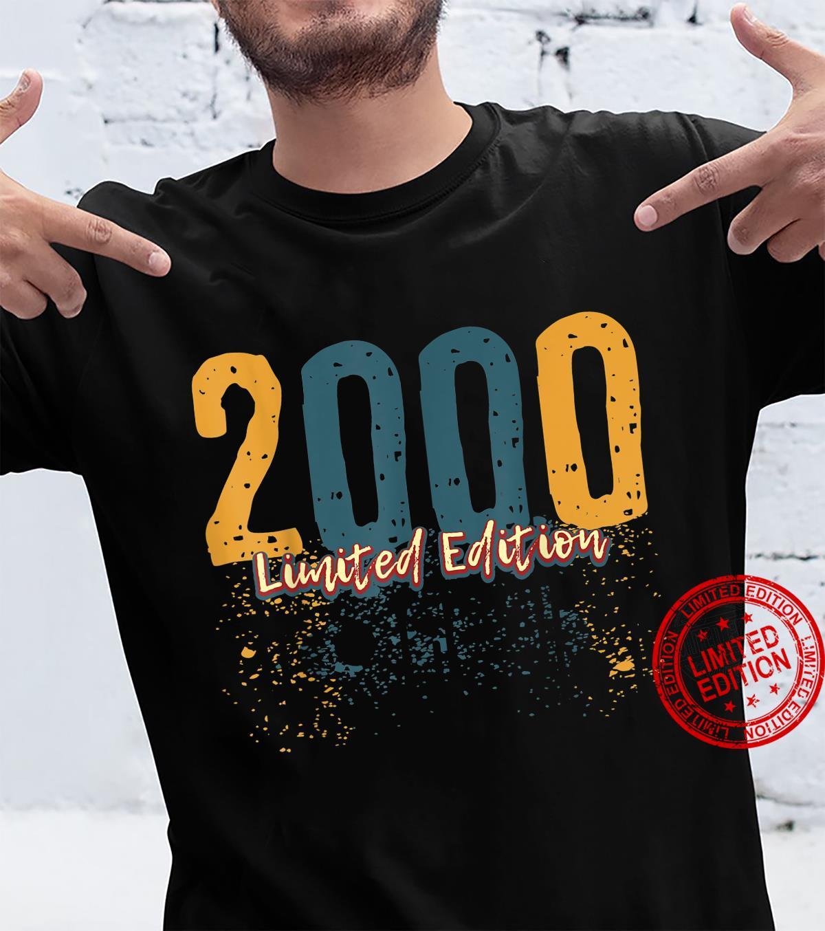 21. Geburtstag Damen Herren 21 Jahre Jahrgang 2000 Geschenk Shirt