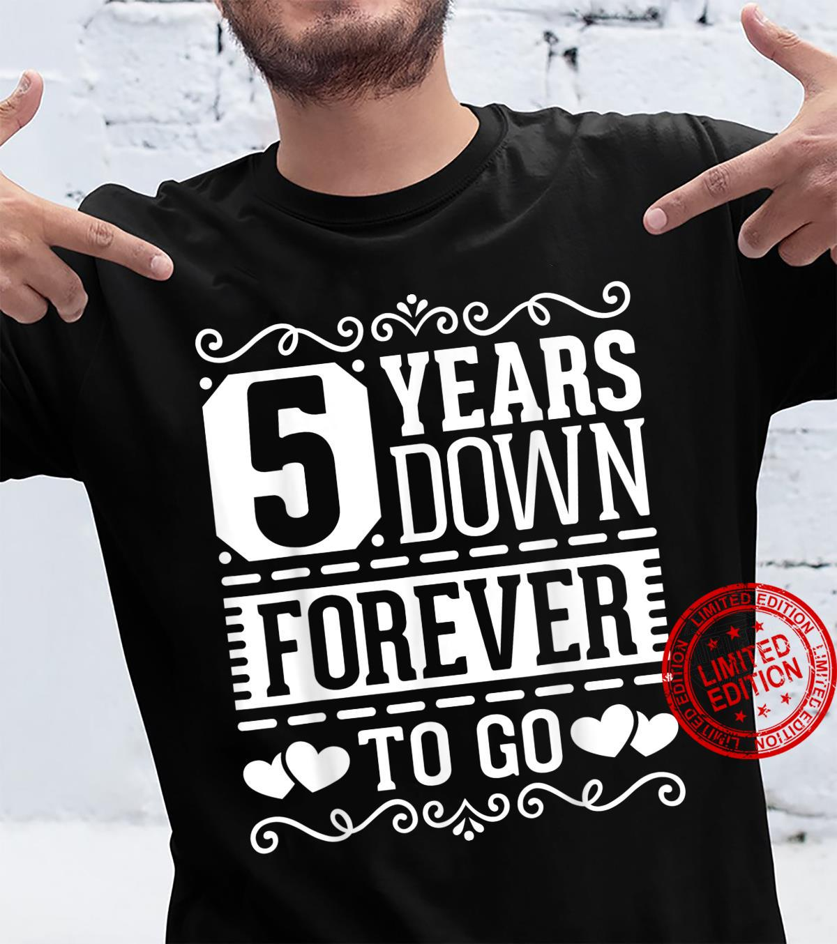 5th Wedding Anniversary 5 Years Married Couples Shirt