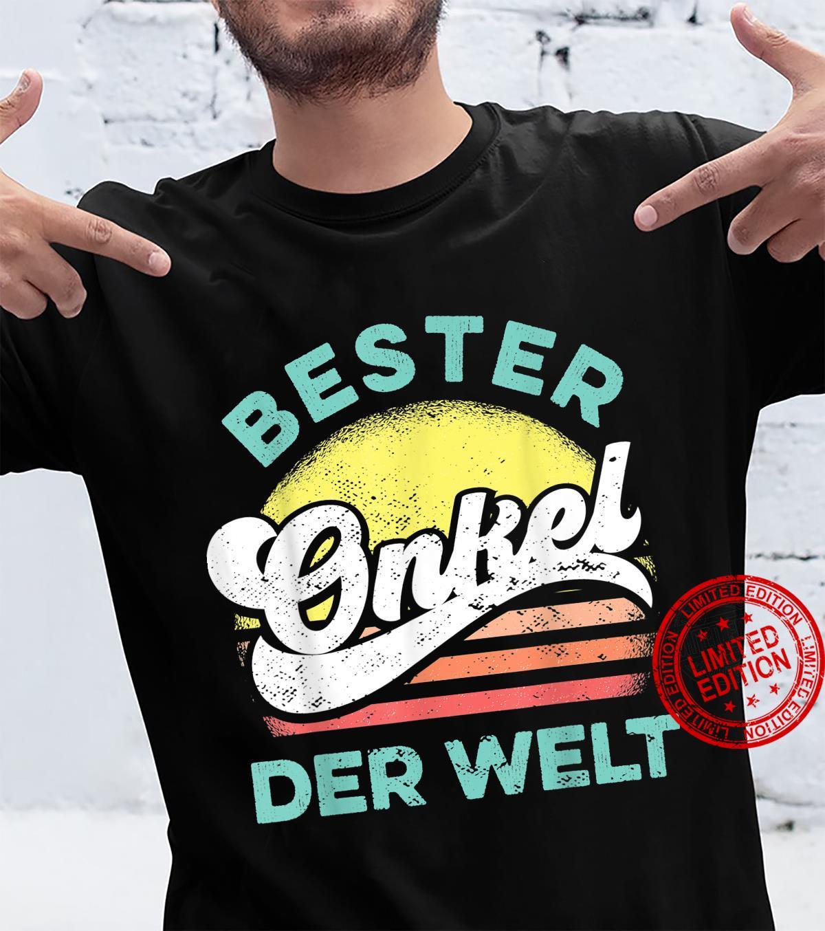 Bester Onkel der Welt Vintage Saying for the Best Uncle Shirt