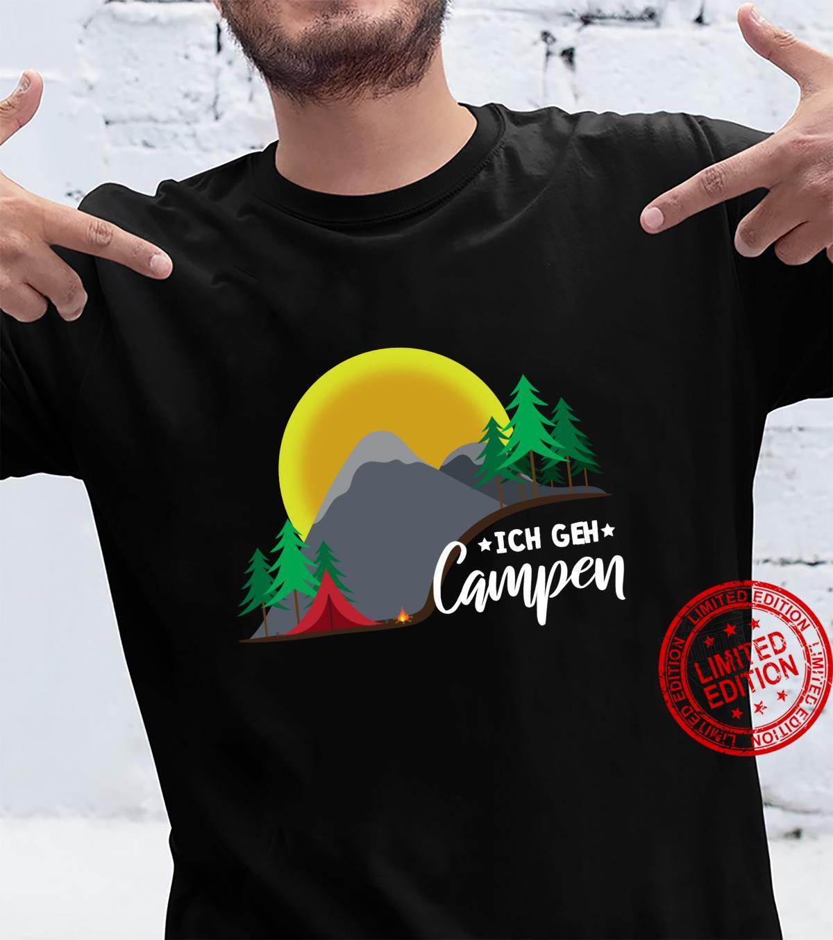 Cooles Zelt Camping Berge Natur Lagerfeuer Shirt