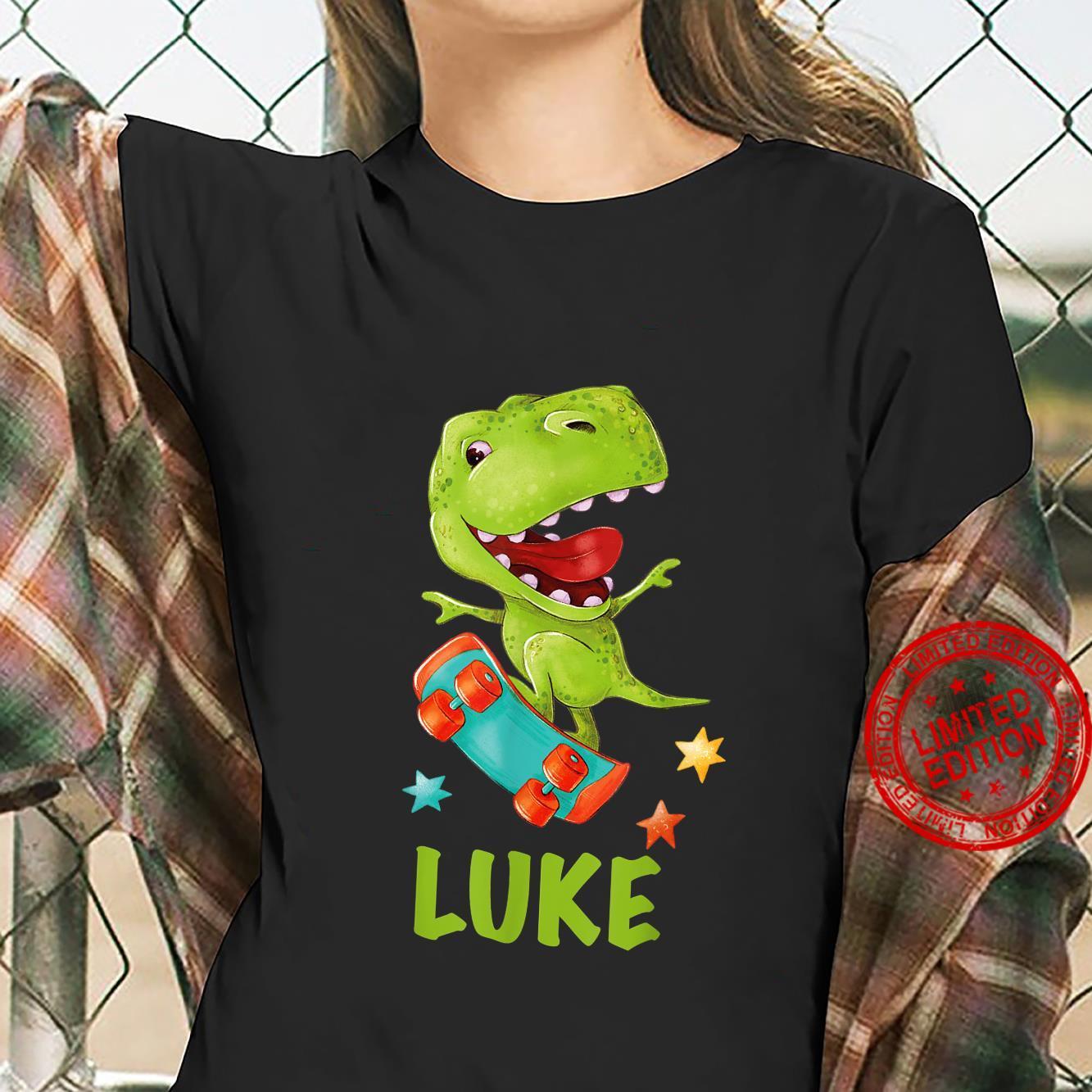Dino Boy Lettering Luke Shirt ladies tee