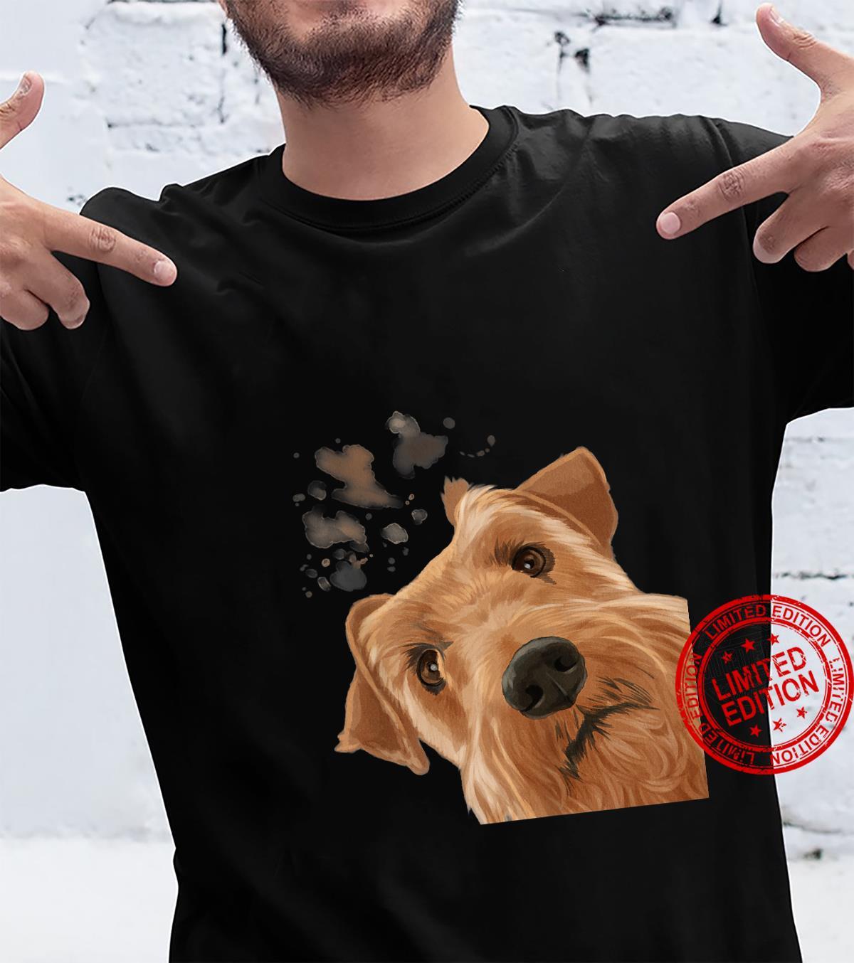 Funny Curious Irish Terrier Dog Shirt