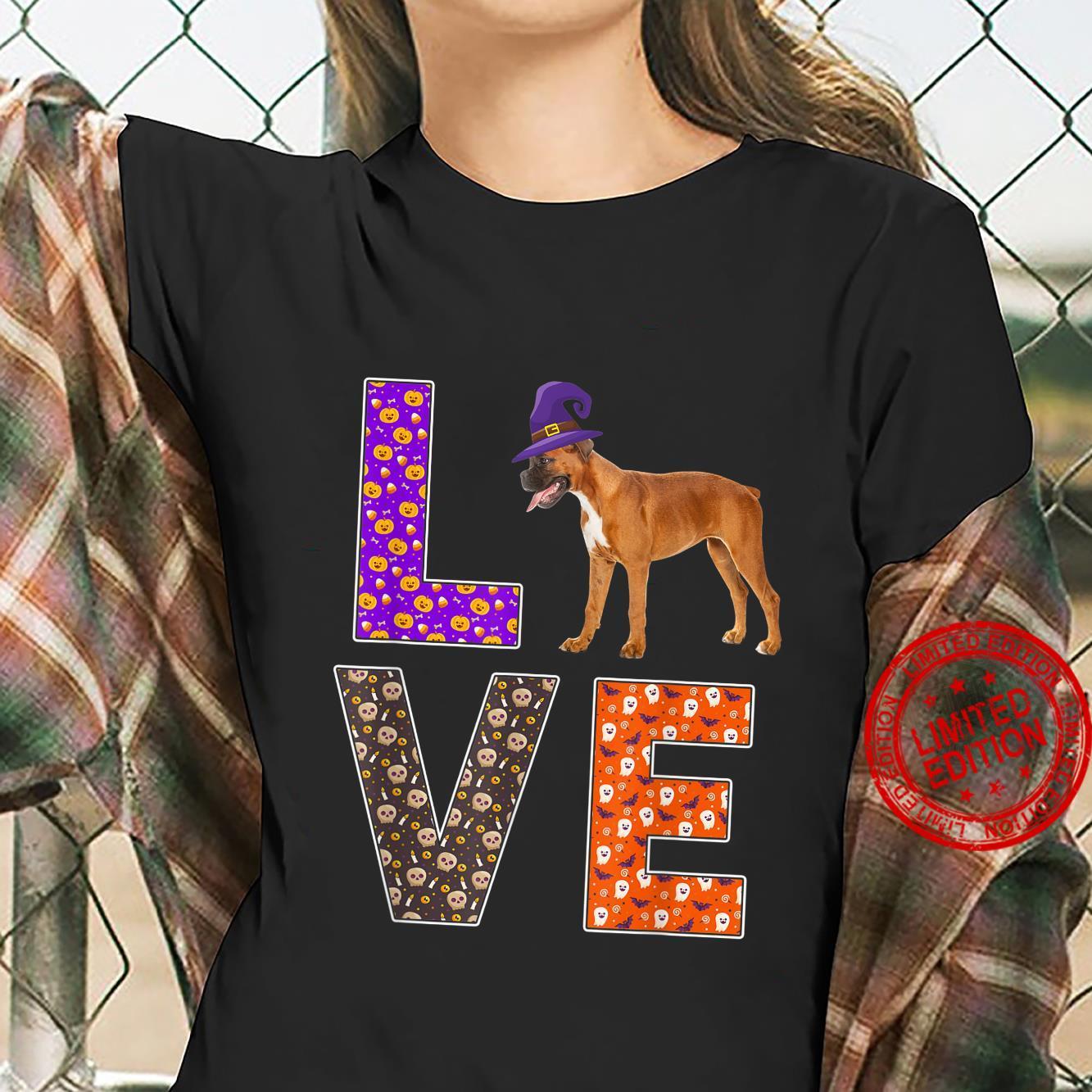 Funny Halloween Costume Boxer Dog Dog Owner Shirt ladies tee