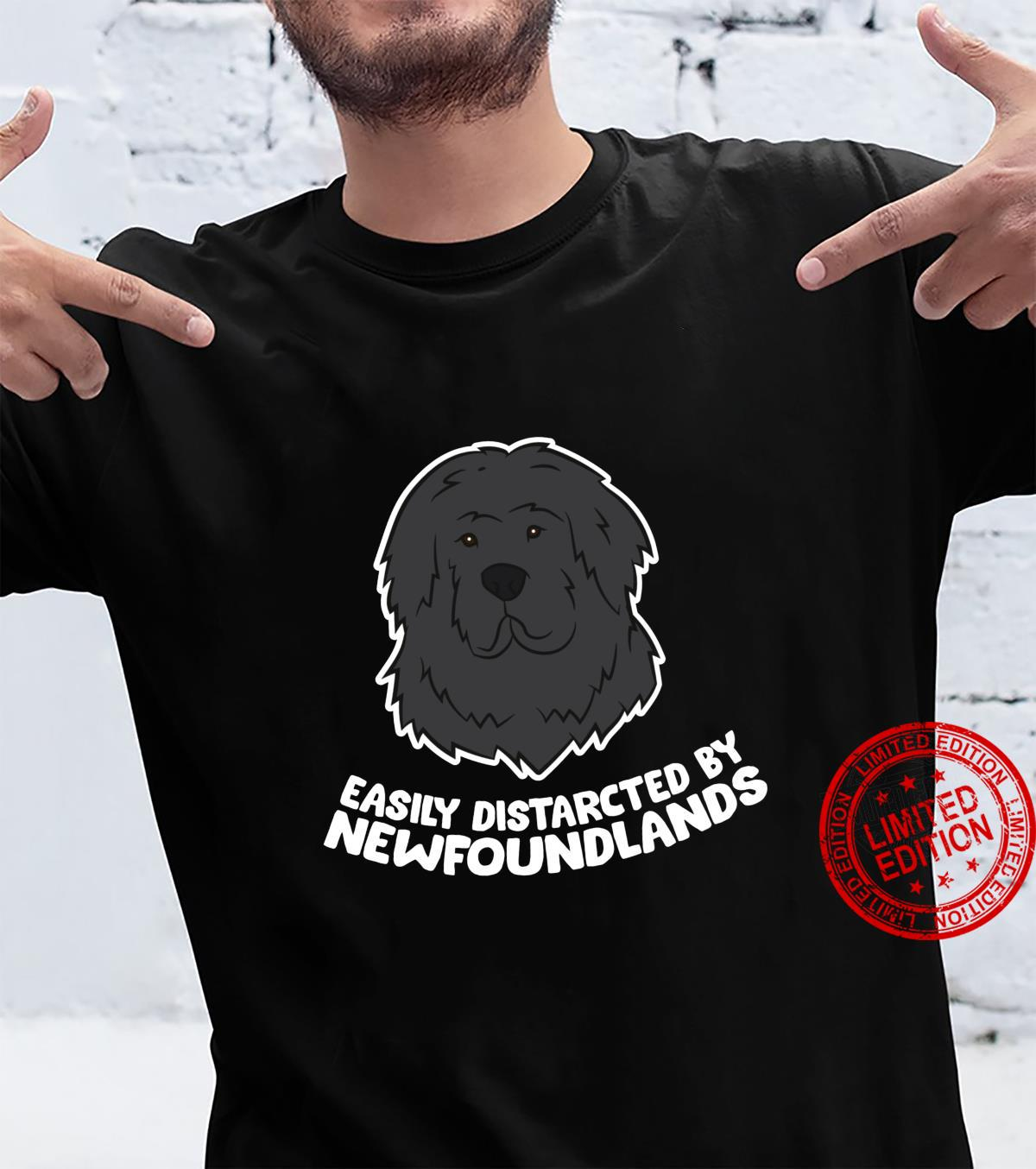 Funny Newfoundland Dog Easily Distracted By Newfoundlands Shirt