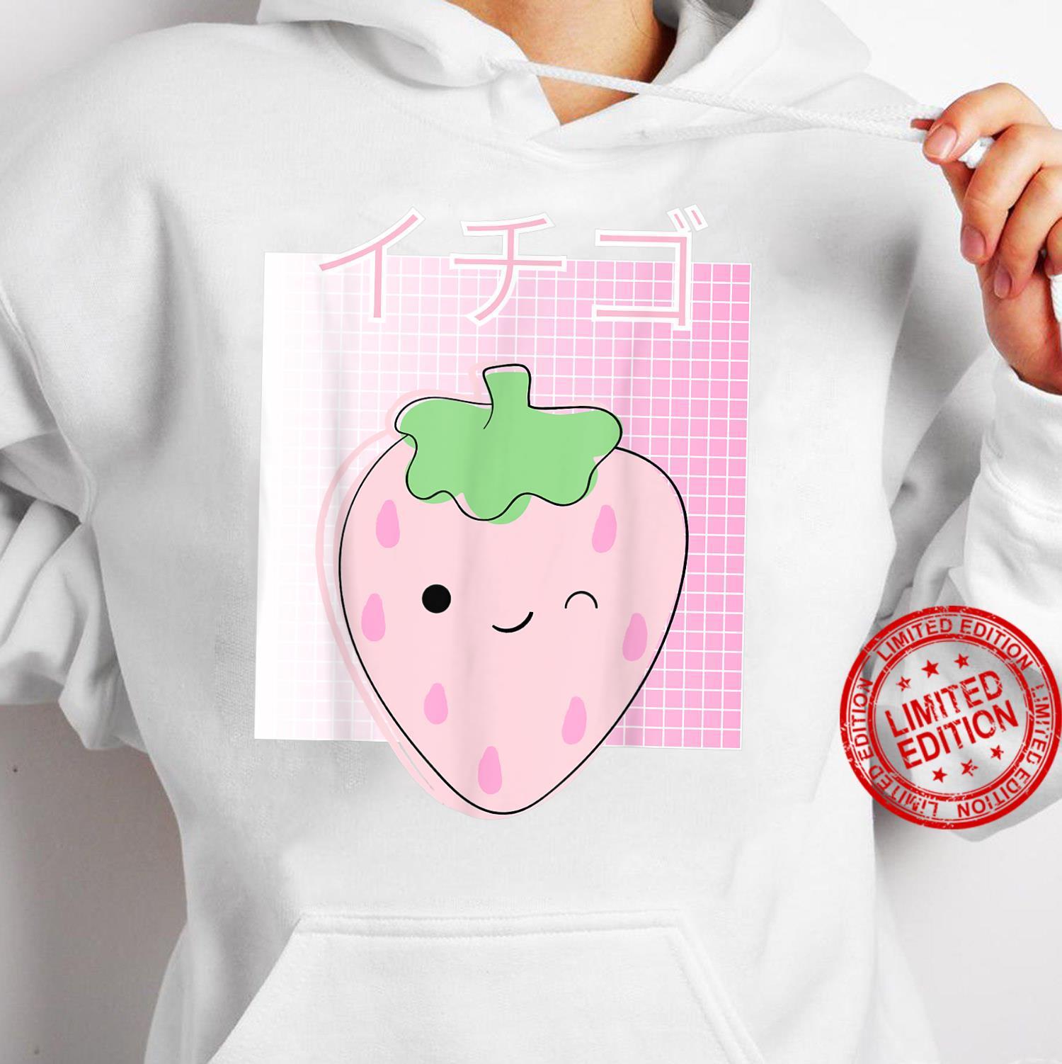 Japanese Kawaii Strawberry, Cute Retro 90s Shirt hoodie