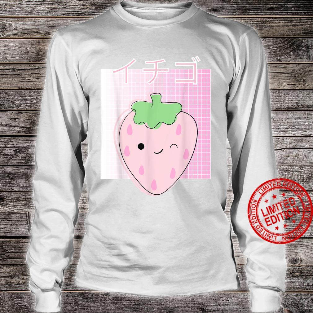 Japanese Kawaii Strawberry, Cute Retro 90s Shirt long sleeved
