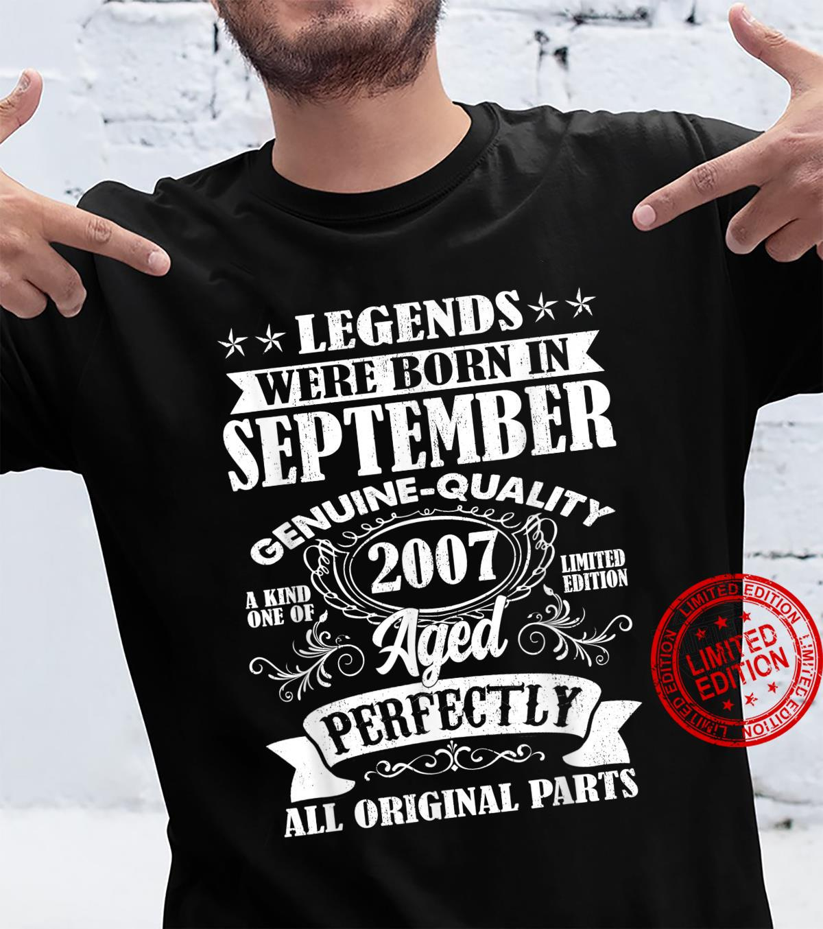 Legends Were Born In September 2007 14Th Birthday Shirt