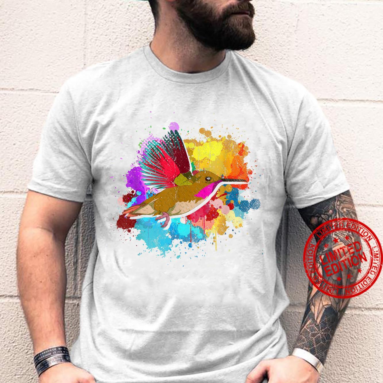 Tierliebhaber Vogelbeobachtung hübscher bunter Kolibri. Shirt