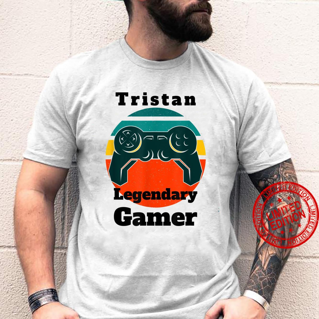 Tristan Legendary Gamer Video Game Player Controller Vintage Shirt