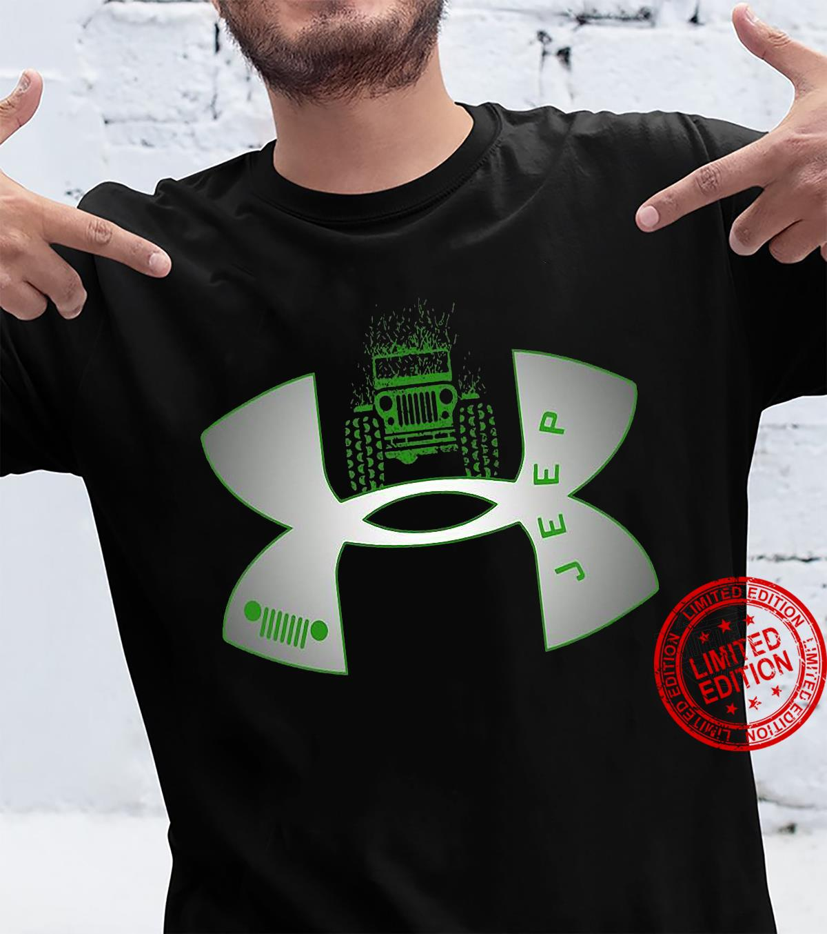 Under Armour Logo Green Jeep Men T-Shirt