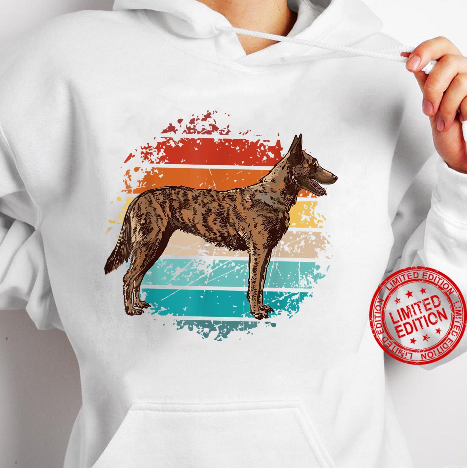 Weinlese böhmischer Schäferhund, tschechischer Schäferhund Shirt hoodie