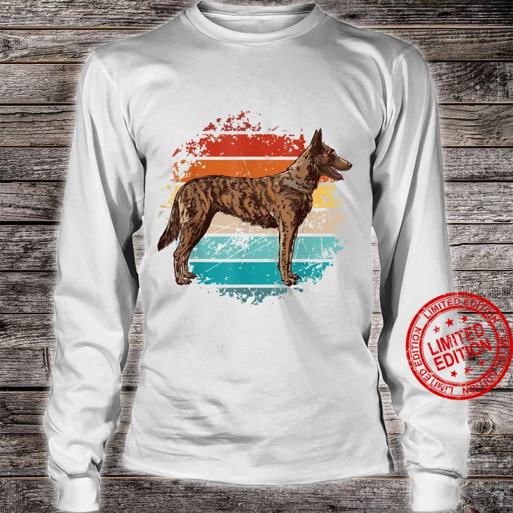 Weinlese böhmischer Schäferhund, tschechischer Schäferhund Shirt long sleeved