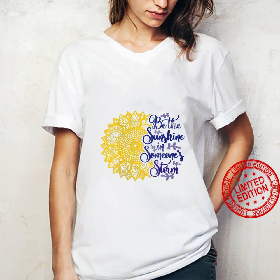 Womens Distressed Sunflower Be the Sunshine Sunflower Kindness Shirt ladies tee