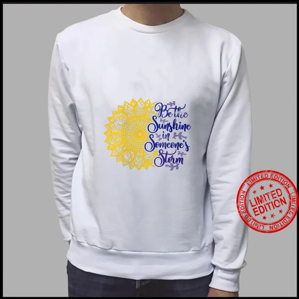 Womens Distressed Sunflower Be the Sunshine Sunflower Kindness Shirt sweater