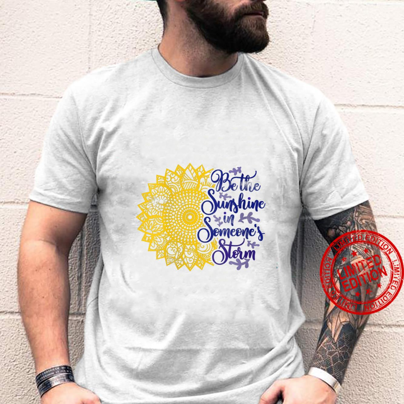 Womens Distressed Sunflower Be the Sunshine Sunflower Kindness Shirt