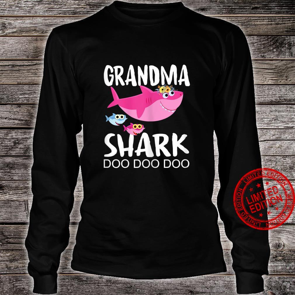 Womens Grandma Shark Doo Doo Shirt Two Baby Shark Mothers Day Shirt long sleeved