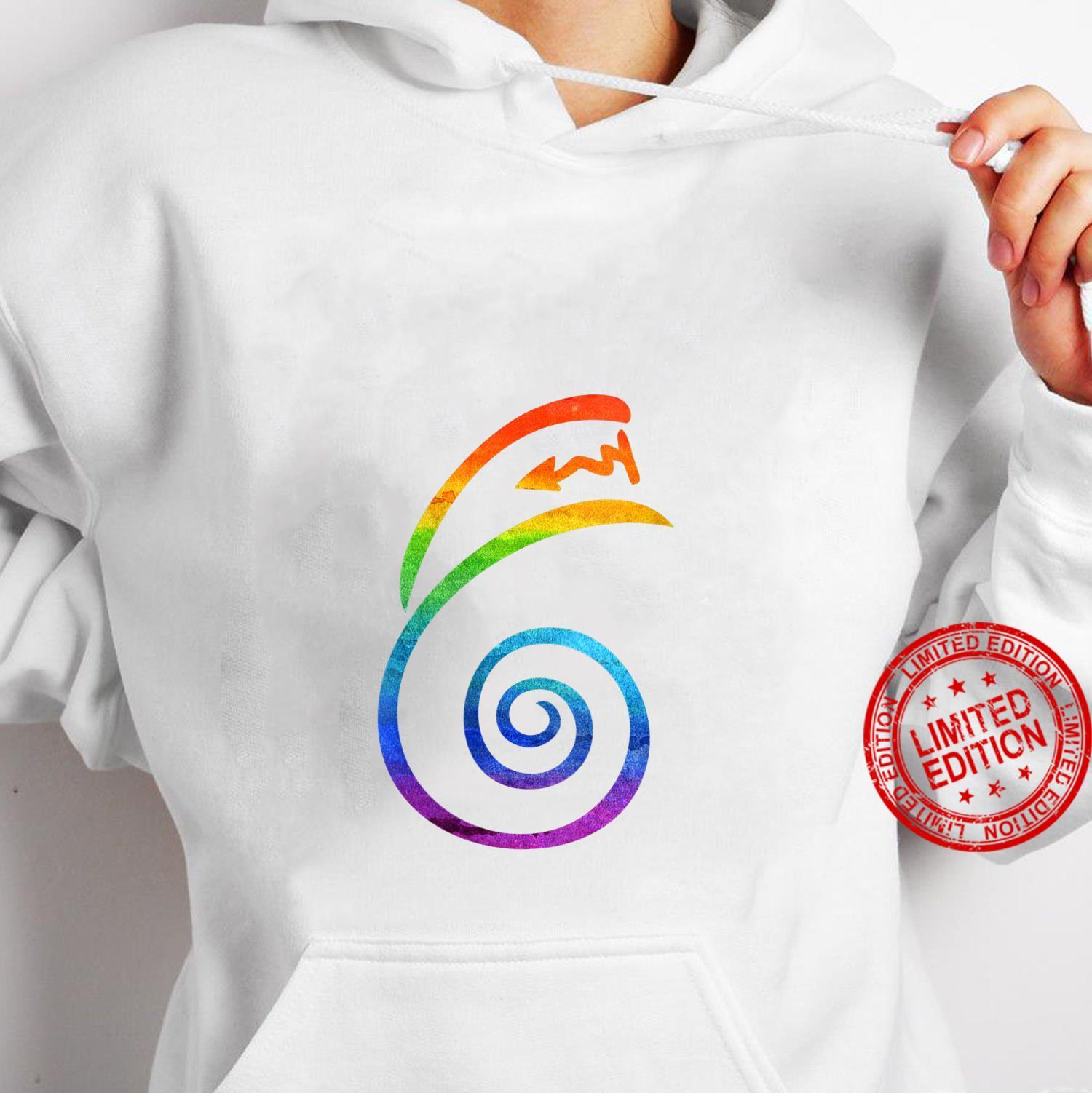 Womens LGBT Pride Flag Reiki Dai Ko Myo Spiritual Chakra Yoga Shirt hoodie