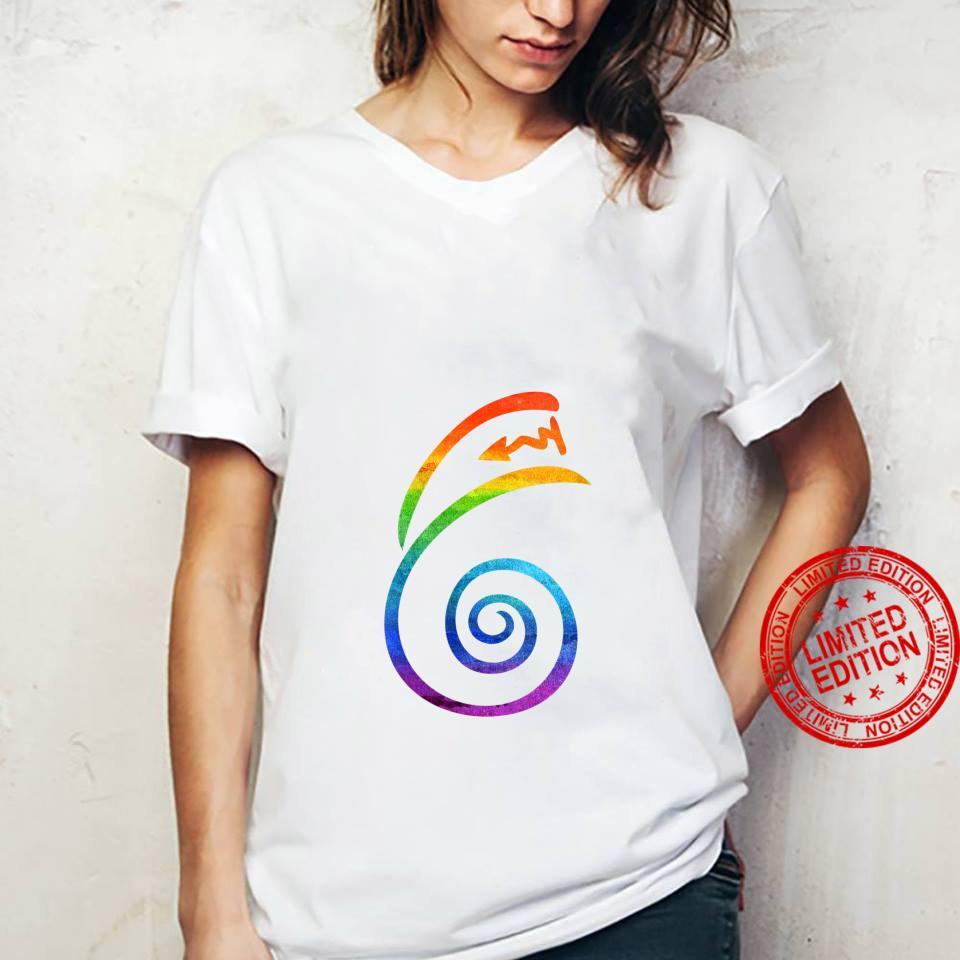 Womens LGBT Pride Flag Reiki Dai Ko Myo Spiritual Chakra Yoga Shirt ladies tee