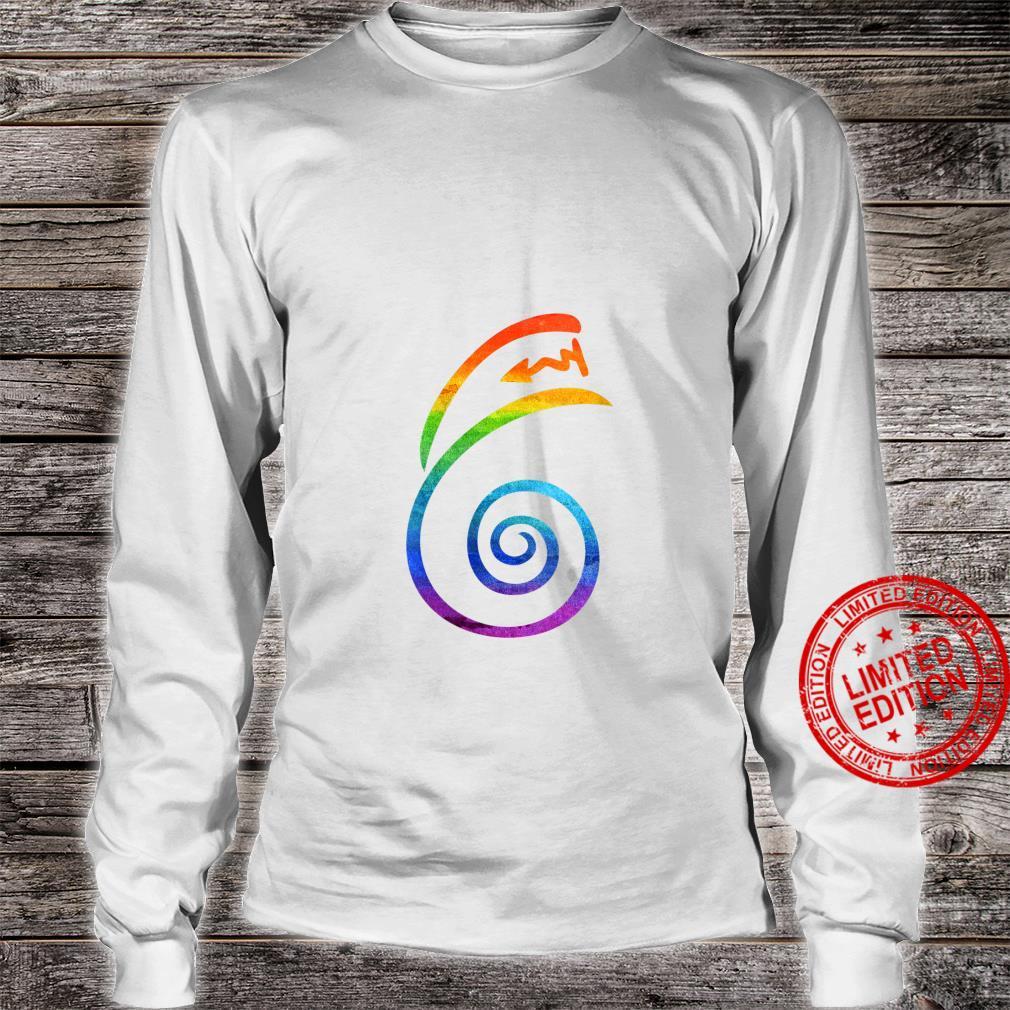Womens LGBT Pride Flag Reiki Dai Ko Myo Spiritual Chakra Yoga Shirt long sleeved
