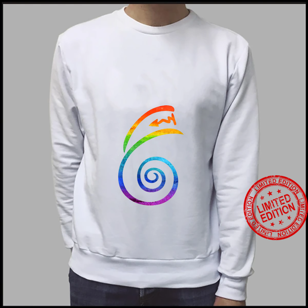 Womens LGBT Pride Flag Reiki Dai Ko Myo Spiritual Chakra Yoga Shirt sweater