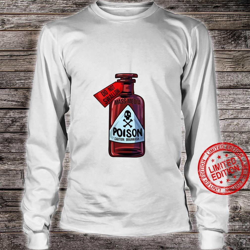 Womens Poison Bottle Mass Media Brainwashing Toxic Shirt long sleeved