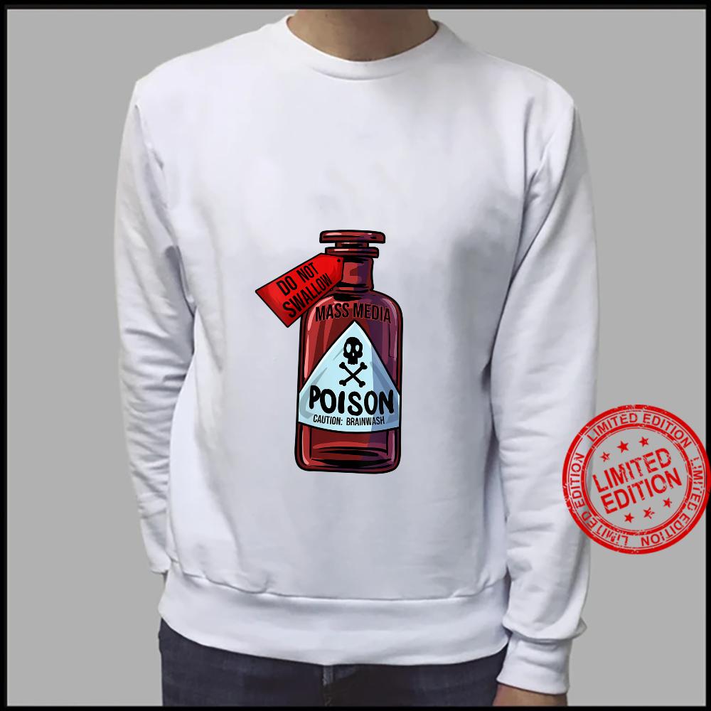Womens Poison Bottle Mass Media Brainwashing Toxic Shirt sweater