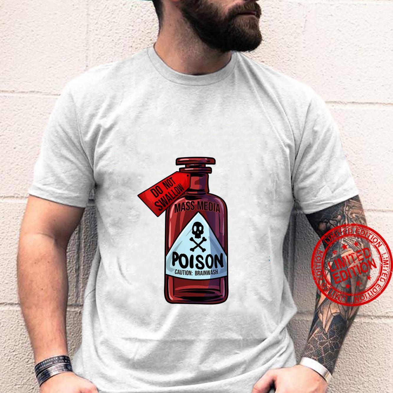 Womens Poison Bottle Mass Media Brainwashing Toxic Shirt