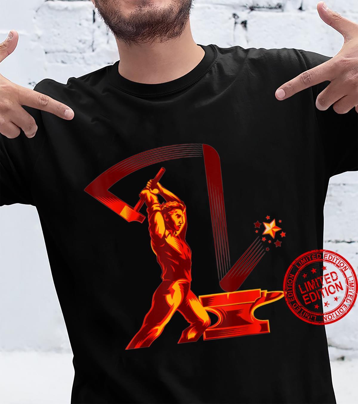 Worker and Labor SOVI8 Vintage Propaganda. Shirt