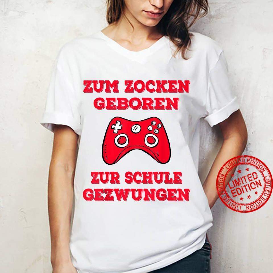 Zum Zocken geboren zur Schule gezwungen Konsole PS5 Gaming Shirt ladies tee