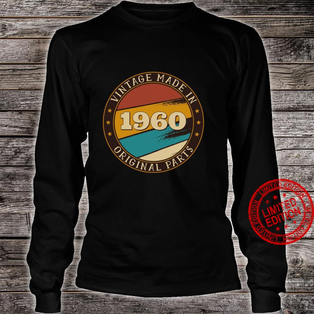 61st Birthday Retro Vintage 61 Years Old Made In 1960 Shirt long sleeved