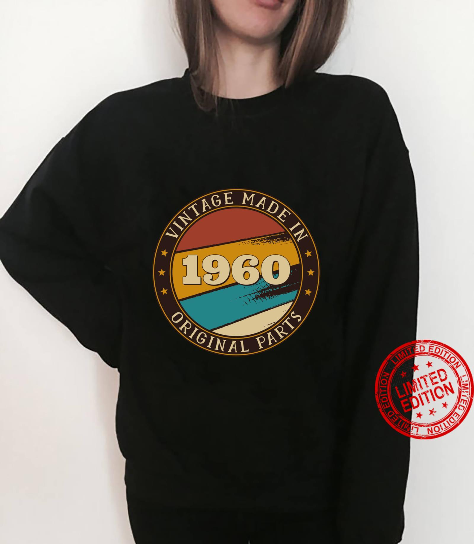 61st Birthday Retro Vintage 61 Years Old Made In 1960 Shirt sweater