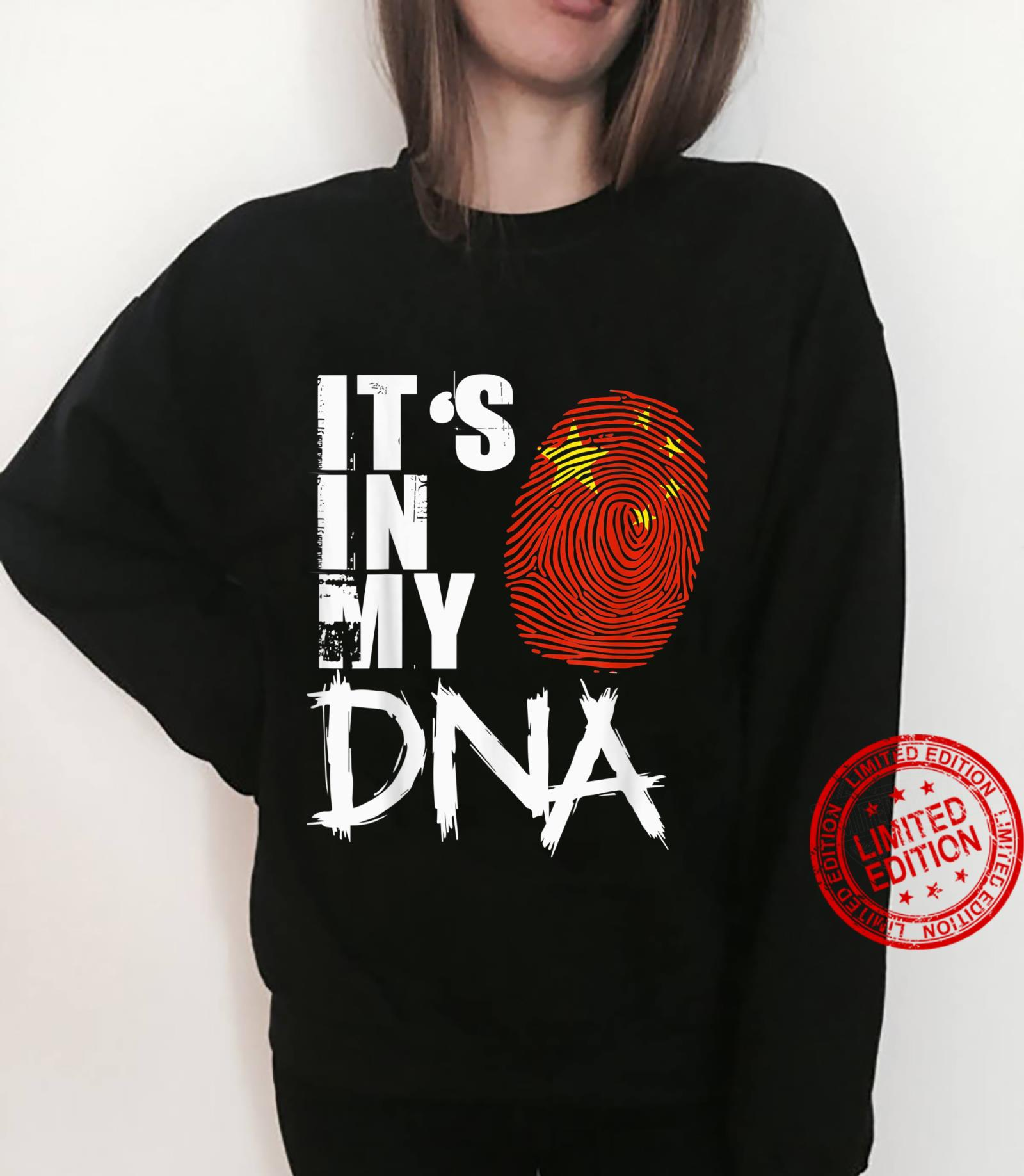 China It's In My DNA China Flag Pride Shirt sweater