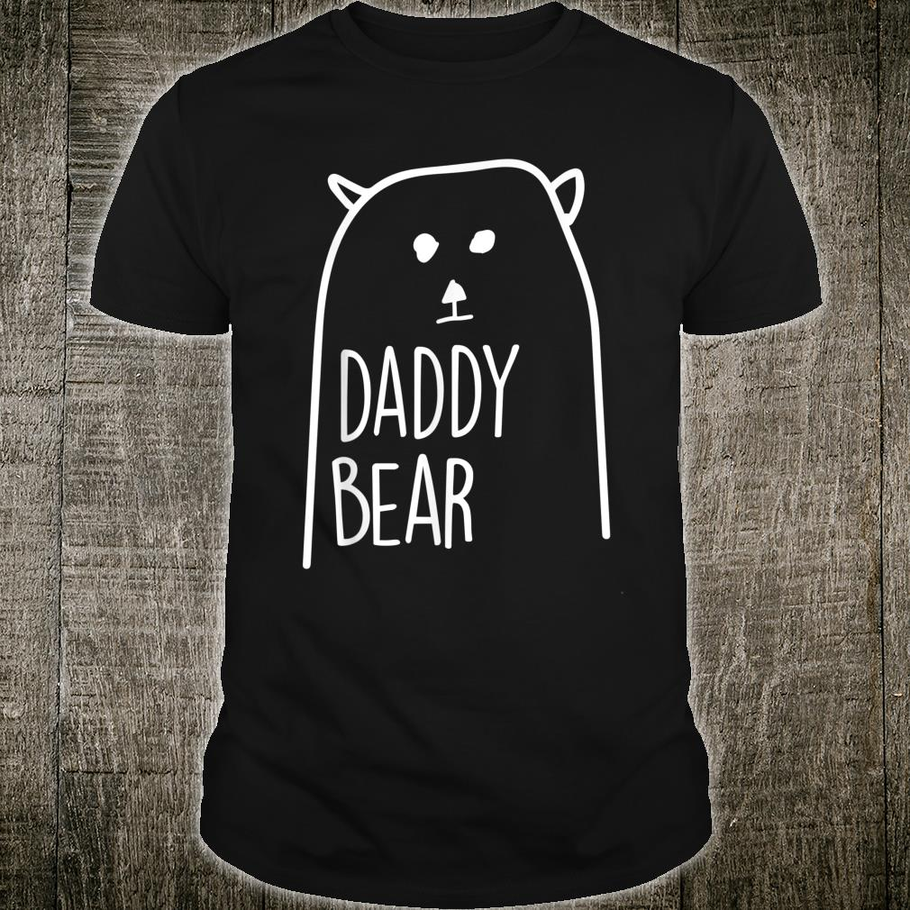 Daddy Bear Loving Dad Papa Father Day Apparel Shirt