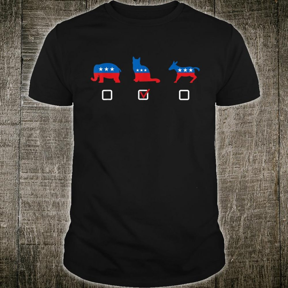 Democratic Party Republican Party Cat Party Shirt