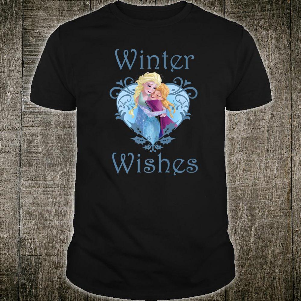Disney Frozen Anna And Elsa Winter Wishes Heart Shirt