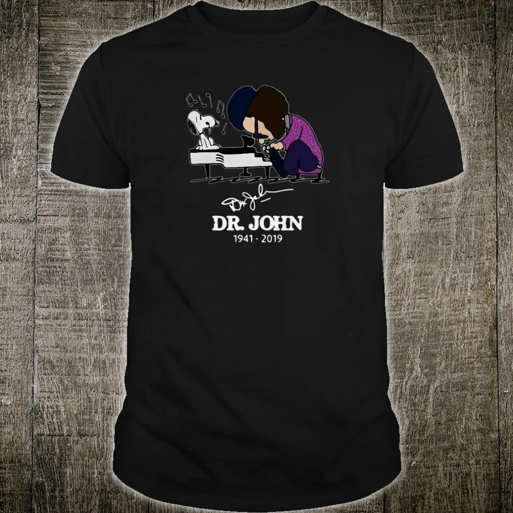 Dr John and Snoopy Schroeder playing piano shirt
