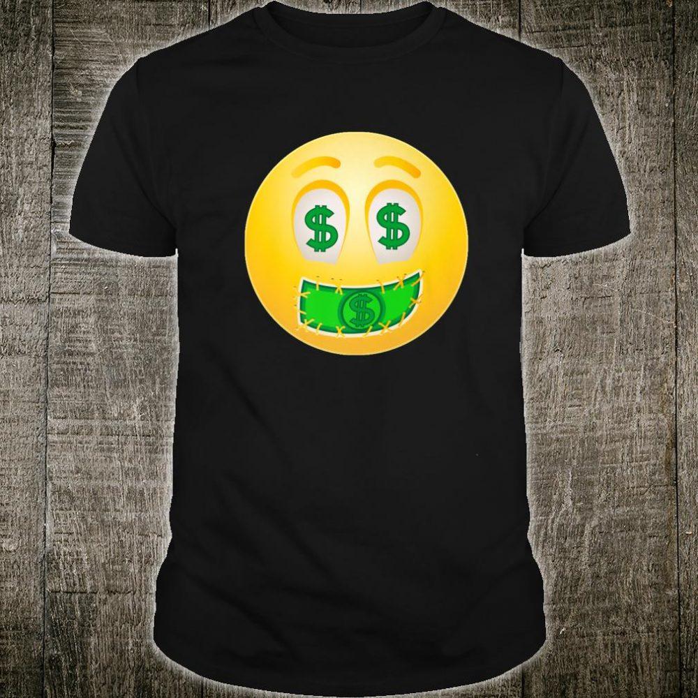 Emoji Dollar Sign Making Money Wealth Rich Emoticon Texting Shirt