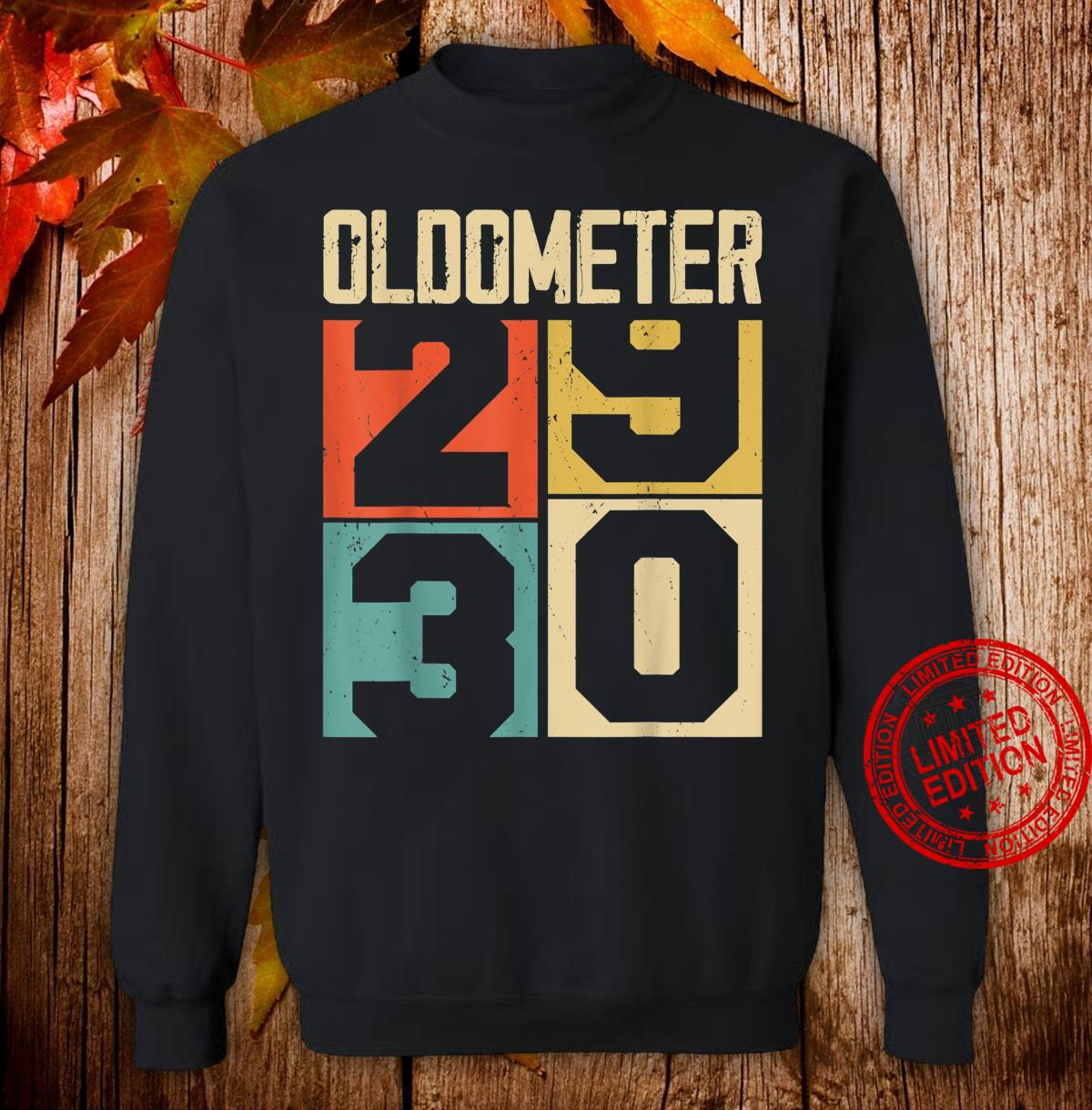 Funny 30 Years Old Oldometer Vintage 30th Birthday Odometer Shirt sweater
