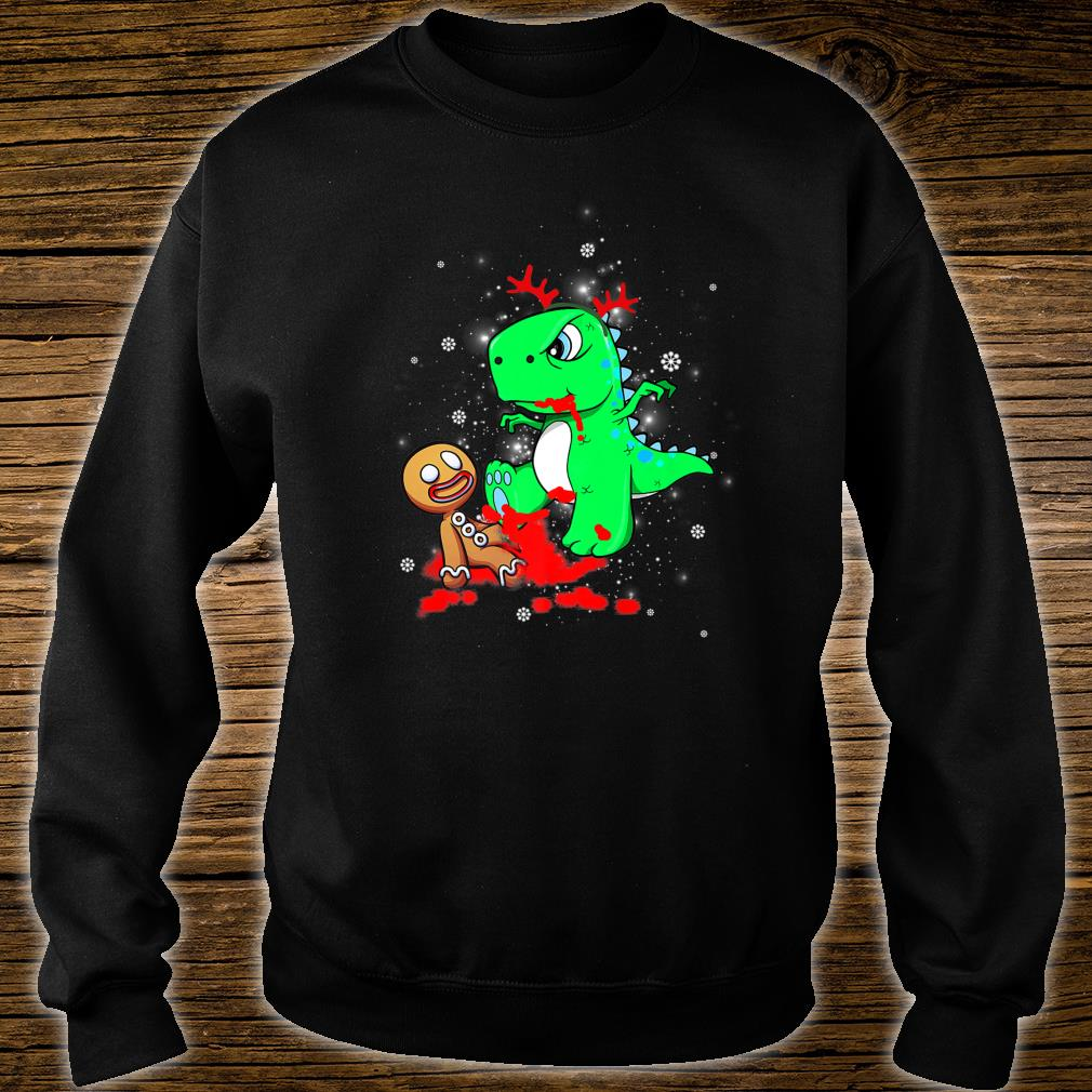 T-Rex Biting Gingerbread Funny Ugly Christmas T-Shirt Gift