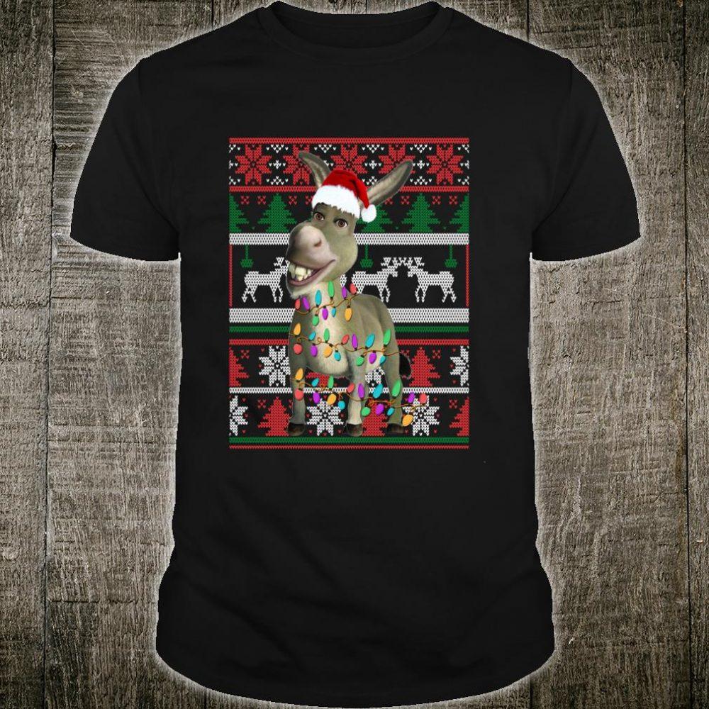 Funny Donkey Ugly Christmas Shirt