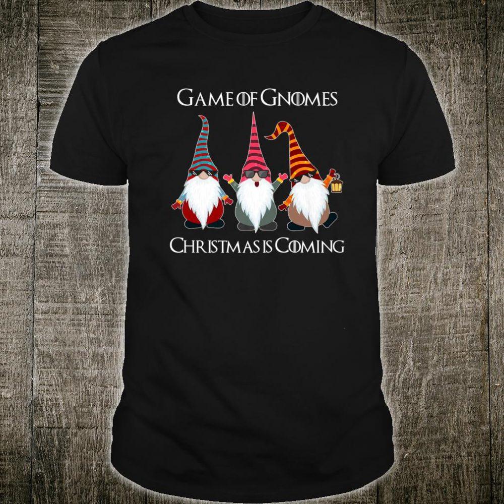 Funny Game Of Gnomes Elf Christmas Is Coming Snow Xmas Shirt