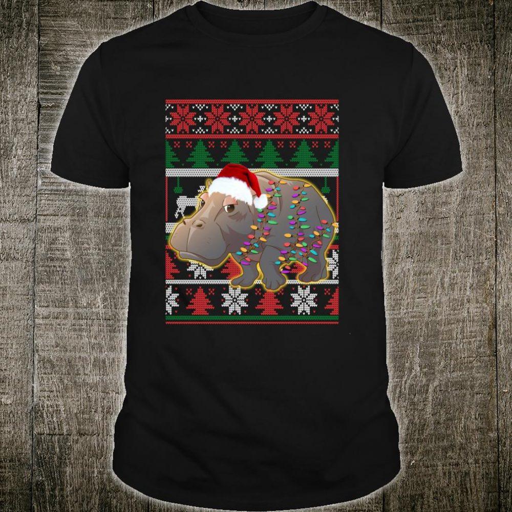 Funny Hippo Ugly Christmas Shirt