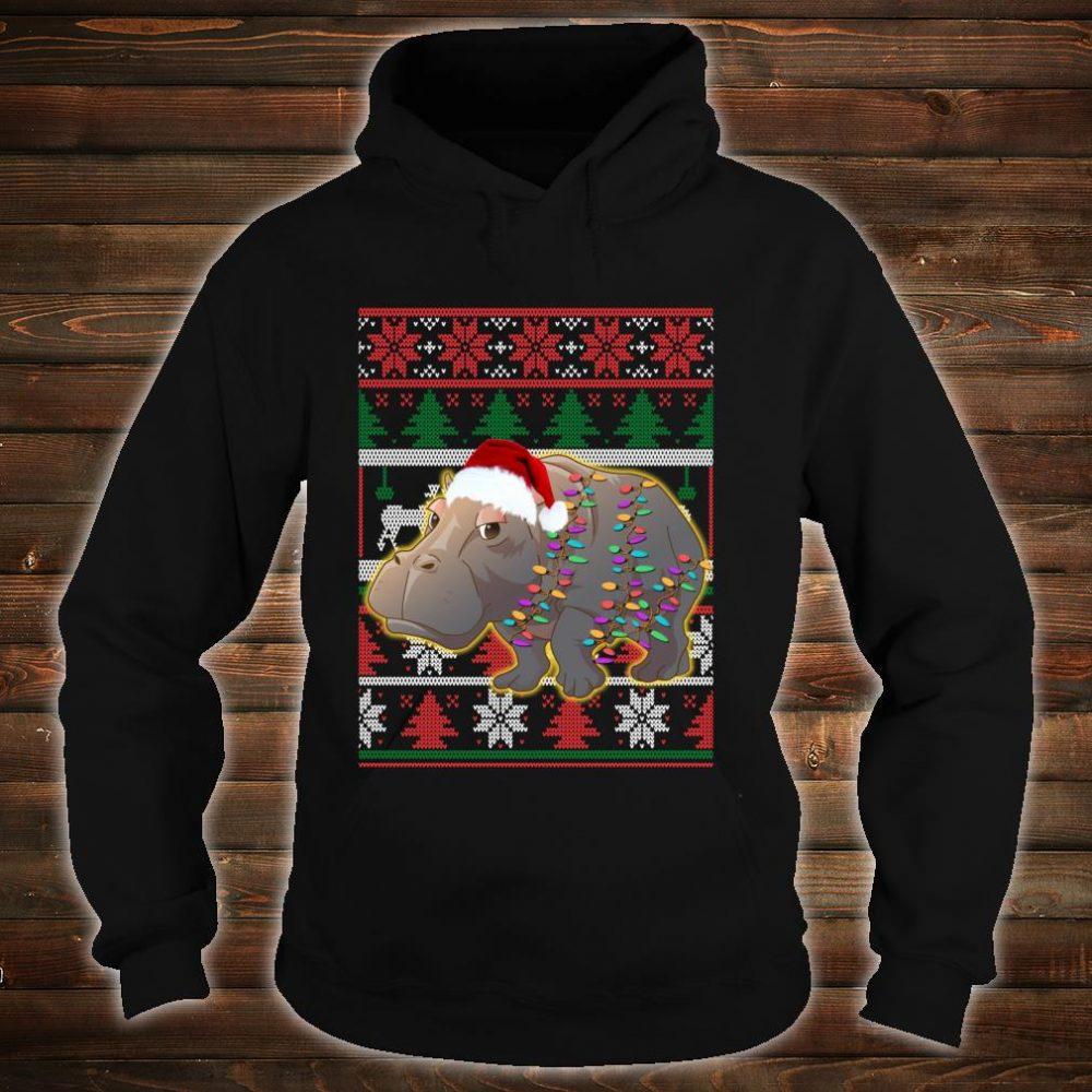Funny Hippo Ugly Christmas Shirt hoodie