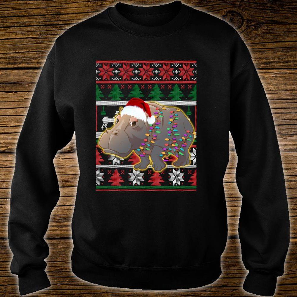 Funny Hippo Ugly Christmas Shirt sweater