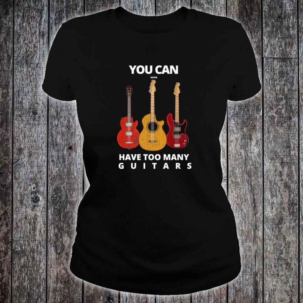 Guitar player Man & Music Shirt ladies tee