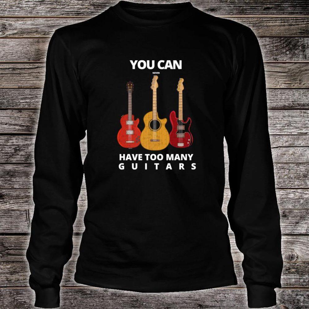 Guitar player Man & Music Shirt long sleeved