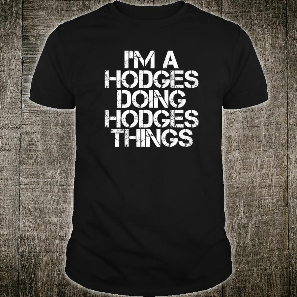 HODGES Surname Family Tree Birthday Reunion Idea Shirt