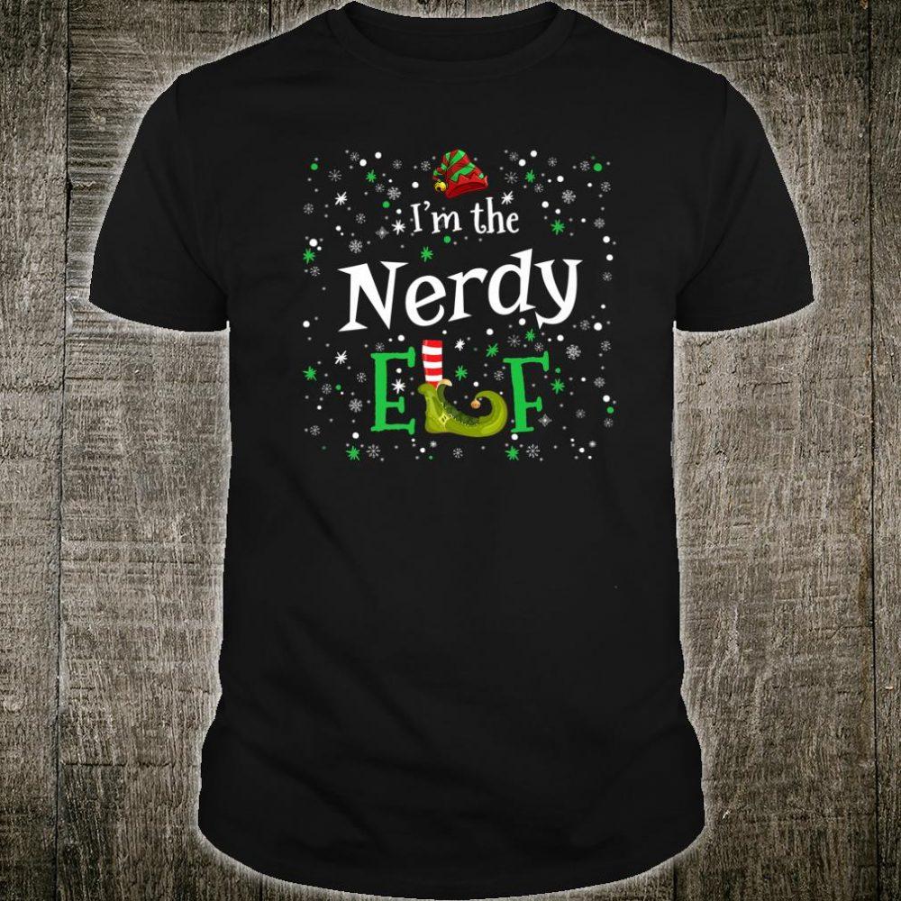 I'm The Nerdy Elf Group Matching Family PJ Xmas Shirt