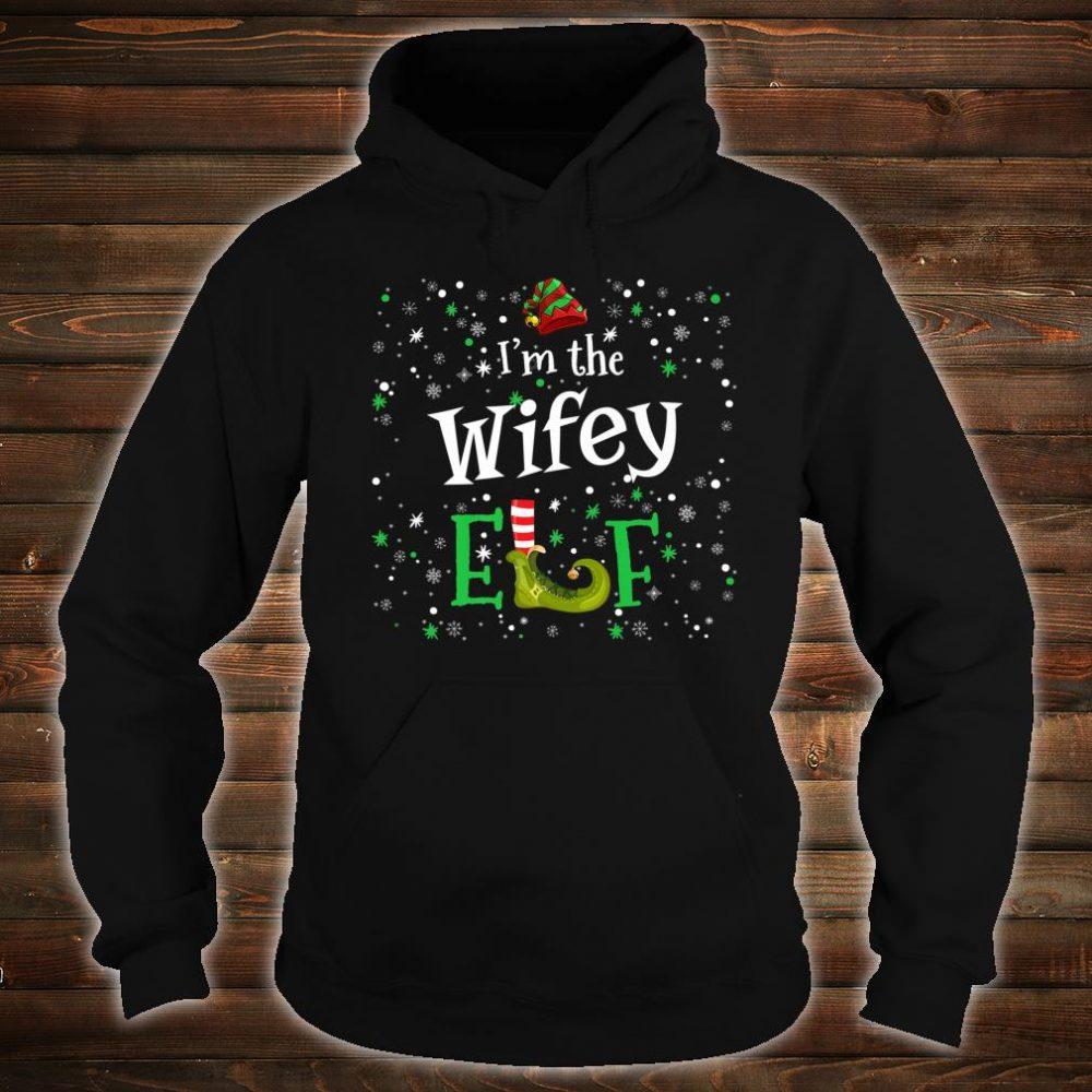 I'm The Wifey Elf Group Matching Family PJ Xmas Shirt hoodie