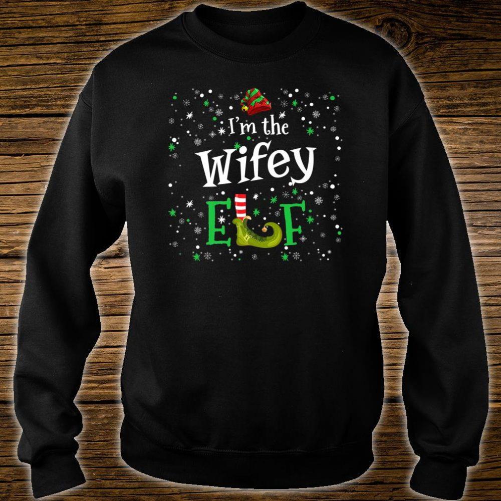 I'm The Wifey Elf Group Matching Family PJ Xmas Shirt sweater